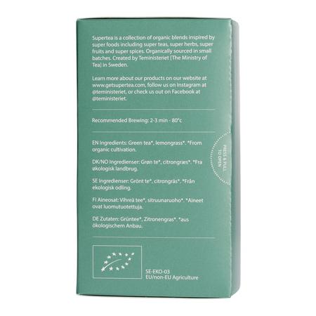 Teministeriet - Supertea Green Tea Lemon Organic - Herbata 20 Torebek