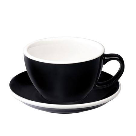 Loveramics Egg - Filiżanka i spodek Cafe Latte 300 ml - Black