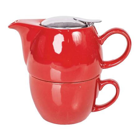 Mount Everest Tea - zestaw do herbaty Tea For One Czerwony