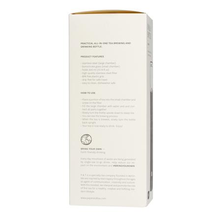 Paper & Tea - Nomad - Butelka z zaparzaczem do herbaty - Czarna