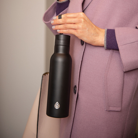 Dafi - Butelka termiczna Easy - Czarna 490 ml
