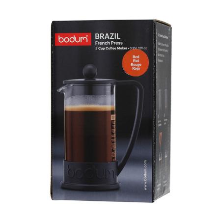 Bodum Brazil French Press 3 cup - 350 ml Czerwony
