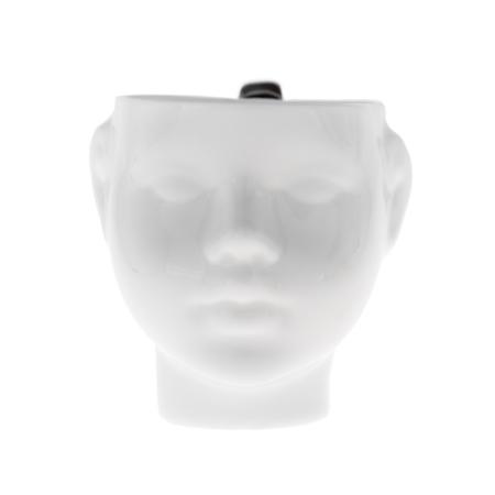 ENDE - Kubek 200ml - Główka z porcelany zdobiona platyną