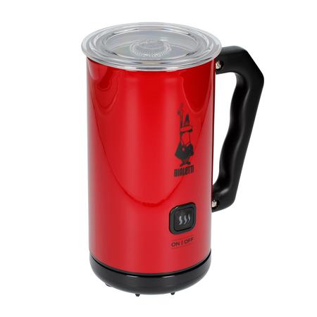 Bialetti Milk Frother MKF02 Rosso - Elektryczny spieniacz do mleka Czerwony